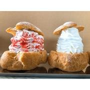 【今だけ限定価格】苺モンブランシュークリーム&クリームたっぷりシュークリーム